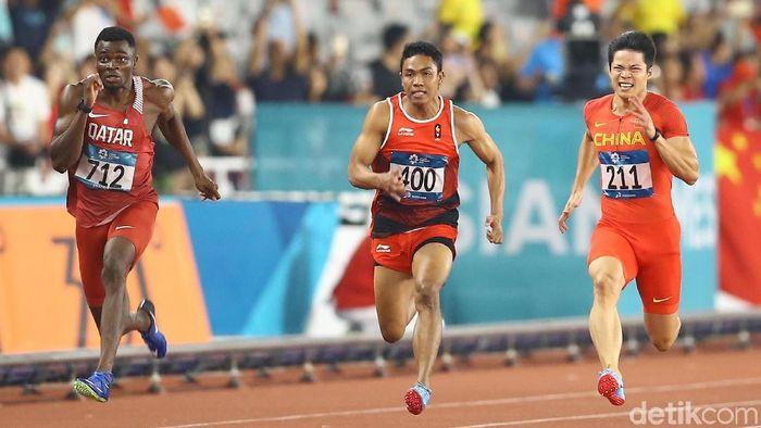 Lalu Muhammad Zohri menjadi andalan Indonesia di SEA Games 2019. (Grandyos Zafna/detikSport)