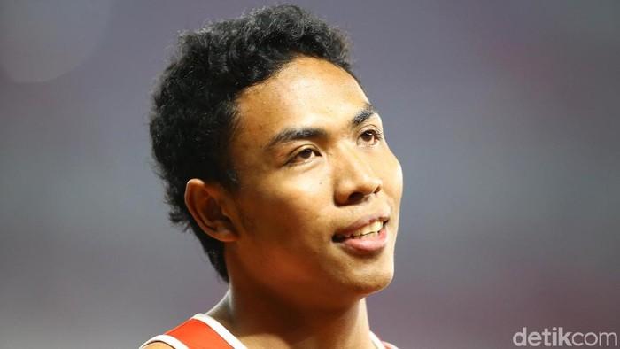 Pelari asal China Su Bingtian berhasil menjadi yang tercepat dalam kategori lari 100 meter putra dalam ajang Asian Games 2018, Jakarta, Minggu (26/8/2018). Su Bingtian berhasil menjadi yang terdepan dan mencatatkan waktu 9.92  detik. Grandyos Zafna/detikcom