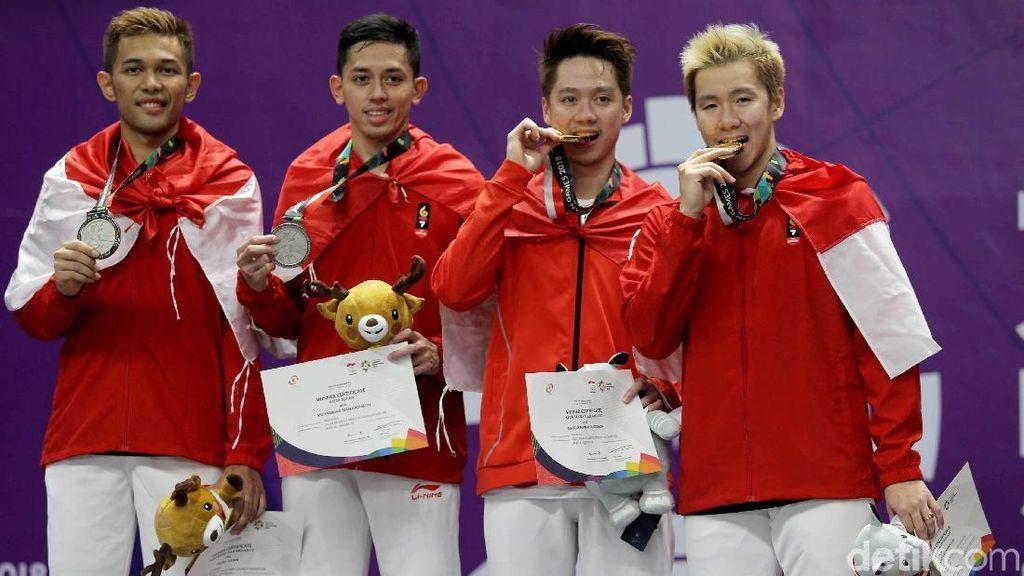Medali Emas dan Perak untuk Indonesia dari Cabang Bulutangkis