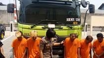 Gelapkan Dump Truck dari Jakarta, 5 Orang Diringkus Polisi