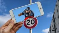 Wah, nggak nyangka perisai Captain America ternyata dari rambu lalu lintas.Dok. Instagram/francoisdourlen