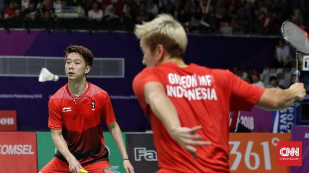 Kevin Sanjaya/Marcus Gideon sebelumnya lebih dulu melangkah ke semifinal Jepang Terbuka 2018.