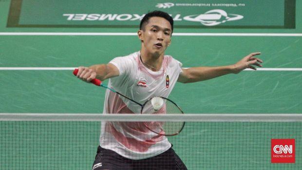 Jonatan Christie lolos ke babak kedua Indonesia Masters 2018.