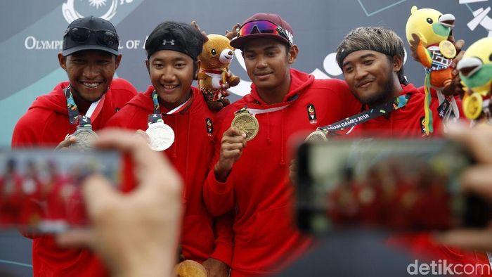 Tim Voli Pantai Indonesia di Asian Games 2018 (Rachman Haryanto)