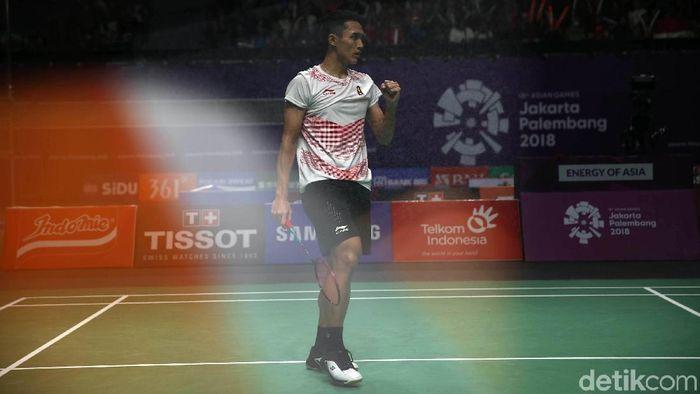 Pebulutangkis Indonesia, Jonatan Christie. (Foto: Agung Pambudhy/detikcom)