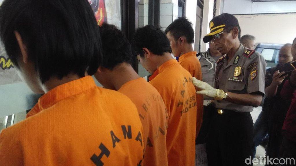 4 Pembunuh Pria di SPBU Bandung Barat Ditangkap