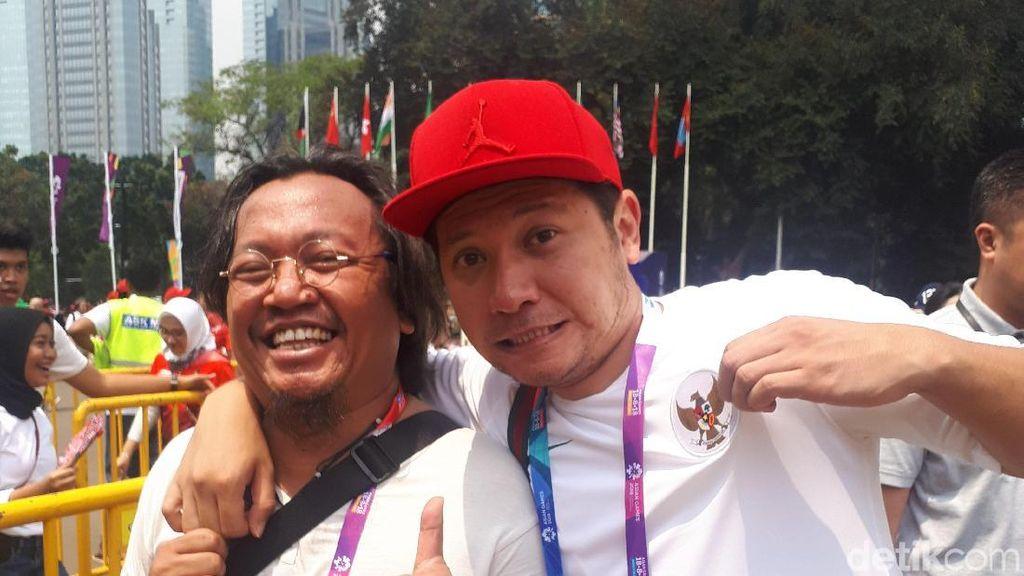 Ada Gading Marten di Antrean Nonton Final Bulutangkis Asian Games 2018