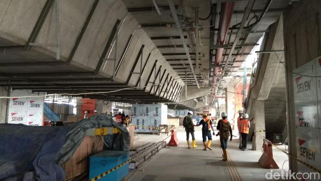 Penampakan Terkini Stasiun MRT di Lebak Bulus