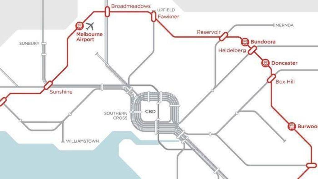 Kurangi Kemacetan, Melbourne Bangun Jalur Kereta Bawah Tanah Lingkar