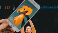Selain itu ia juga membuat adegan ikonik di film Lion King yang digabungkan dengan foto Stephen Curry.Dok. Instagram/francoisdourlen