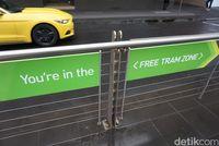 Daerah Free Tram Zone (Shinta/detikTravel)