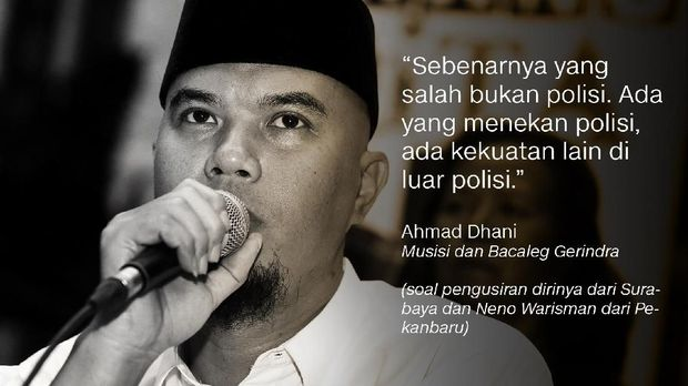 Salah satu tokoh #2019GantiPresiden, Ahmad Dhani.