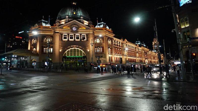 Di Kota Melbourne, Australia, tepatnya di pusat kota, ada beberapa jalur tram yang gratis. Ini bisa digunakan untuk berkeliling pusat kota (Shinta/detikTravel)