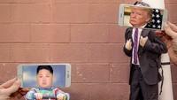 Politikus serta pemimpin negara, Kim Jong Un dan Donald Trump pun jadi korban kreatifitasnya.Dok. Instagram/francoisdourlen