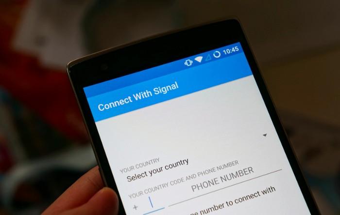 Aplikasi Signal. Foto: istimewa