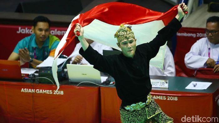 Sugianto, salah satu peraih medali emas buat Indonesia di Asian Games 2018 pada hari ini (Foto: Grandyos Zafna/detikSport)