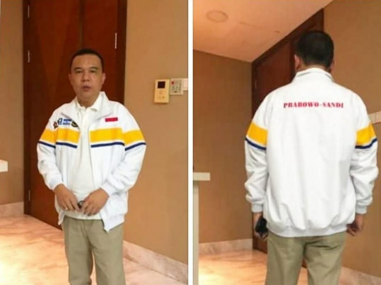 Pamer Jaket Koalisi Prabowo-Sandi, Elite Gerindra: Keren Kan?