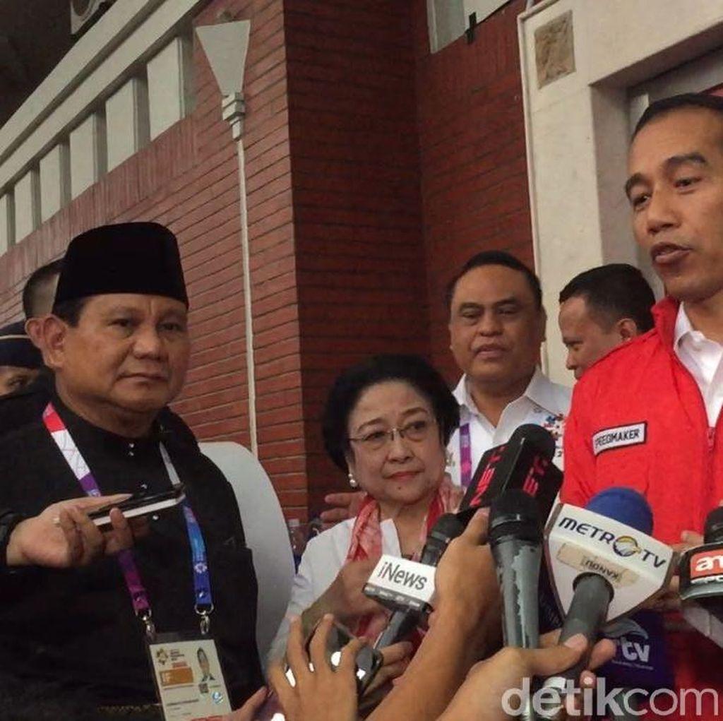PDIP Soal Pertemuan Jokowi-Prabowo-Mega: Silaturahmi Politik, Semoga Jadi Ya