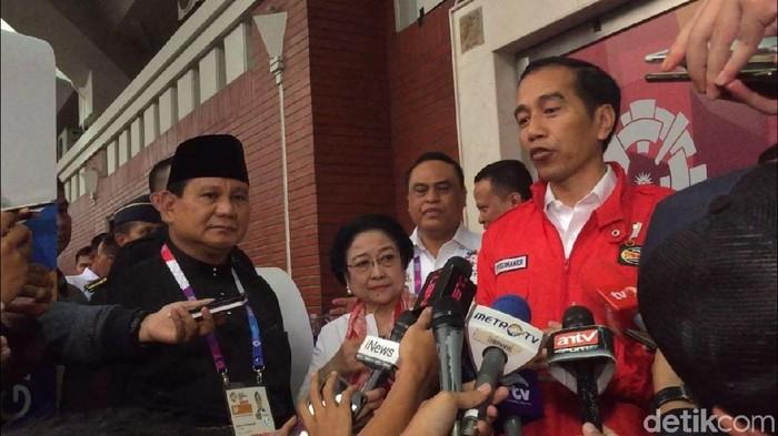 Prabowo, Megawati, dan Jokowi (Abdul Rosyid/detikcom)