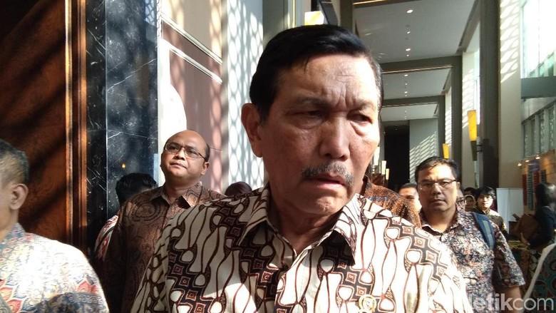 Menko Maritim Luhut Binsar Pandjaitan di Sleman, Yogyakarta (Usman Hadi/detikTravel)