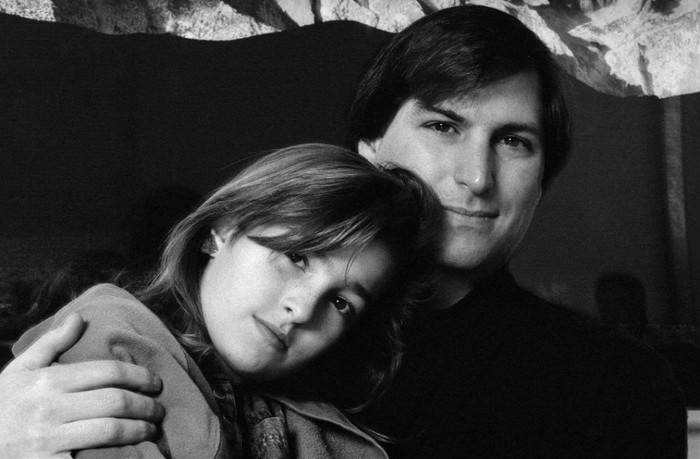 Steve Jobs dan Lisa. Foto: Lisa Jobs