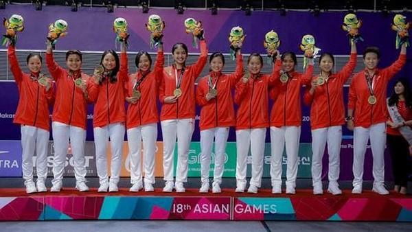 Dalam Asian Games 2018, Jorji berhasil mengharumkan nama Indonesia lewat cabor bulu tangkis. Jorji pun berhasil menyumbang perunggu untuk Indonesia (greegoriaa/Instagram)