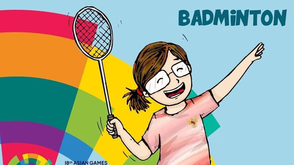 Sukseskan Asian Games 2018 ala Ilustrator Jeany