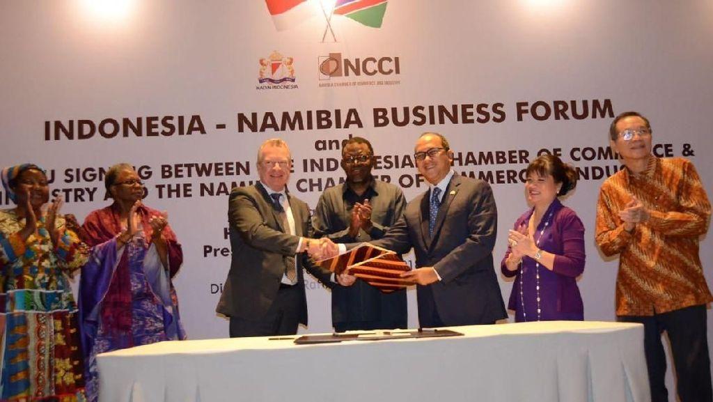 Presiden Namibia Bertemu Pengusaha RI Bahas Investasi