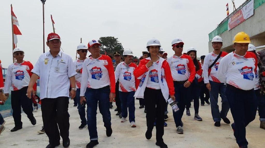 Saat Rini Soemarno Blusukan 10 Jam Susur Tol Trans Sumatera