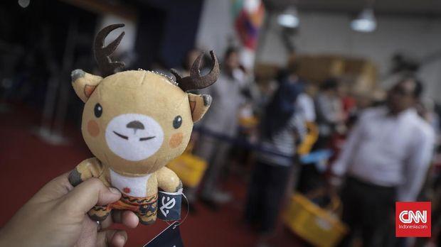 Minimnya toko penjual cinderamata Asian Games 2018 sempat dikeluhkan atlet.