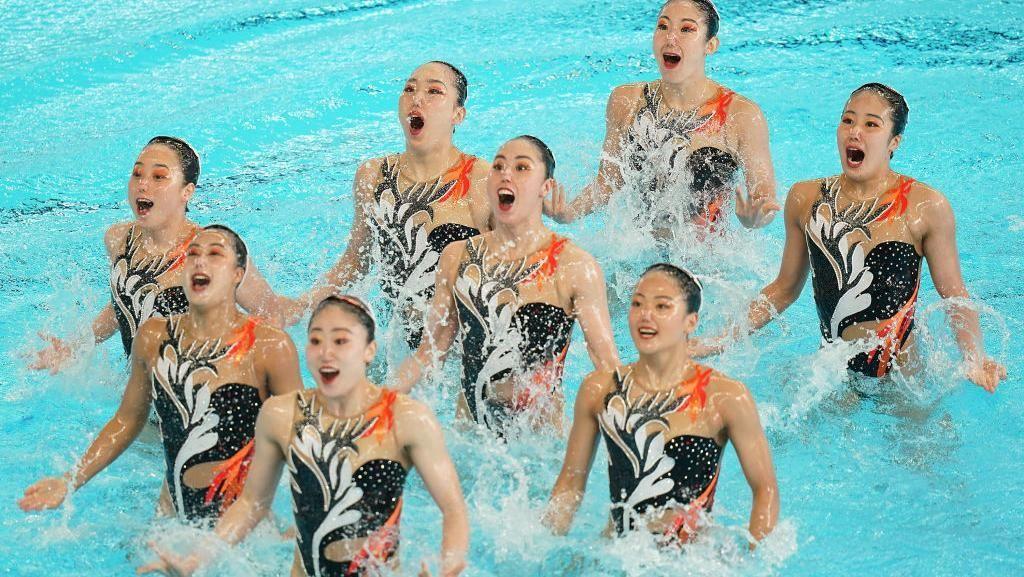 Foto: Cantiknya Para Atlet Renang Indah dengan Kostum Keren di Asian Games