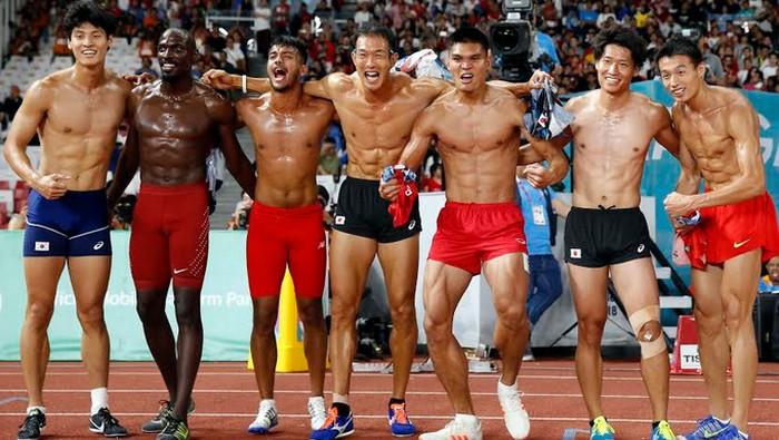 Demam Asian Games bikin pengin tubuh berotot, tapi jangan sampai pakai jalan pintas ya. Foto: Reuters