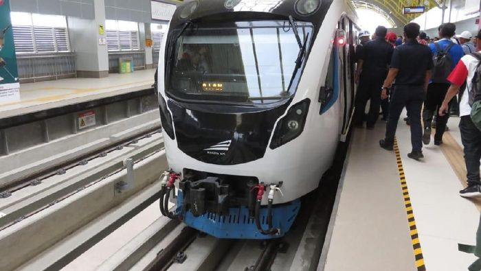Penampakan LRT Palembang (Foto: Fadhly F Rachman)
