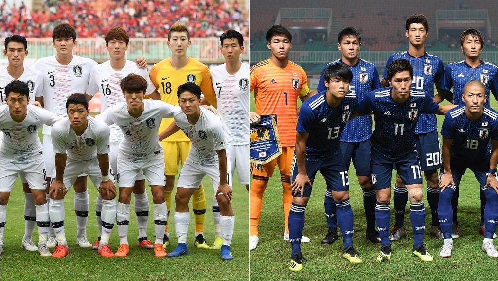 Membandingkan IMT Pemain Bola Korsel vs Jepang, Siapa Menang?