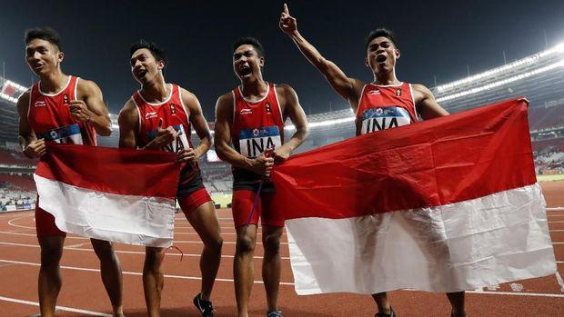 Lalu Zohri merebut medali perak di Asian Games 2019 pada nomor 4x100 meter.