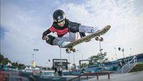 Kenalan dengan Nyimas, Skater Cilik Berhijab Peraih Medali di Asian Games