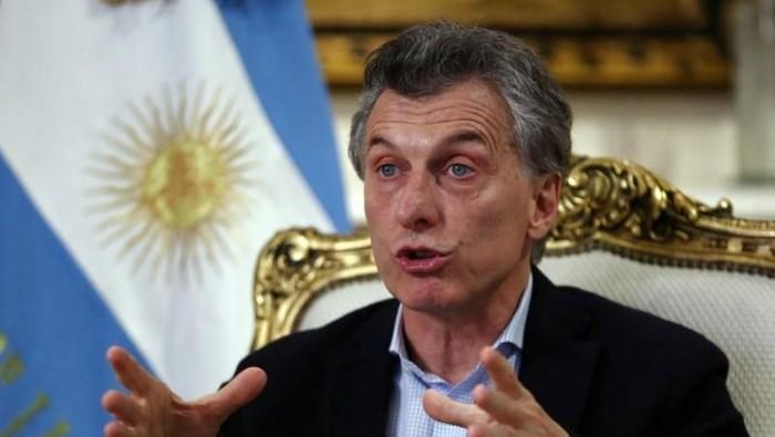 Presiden Argentina Mauricio Macri