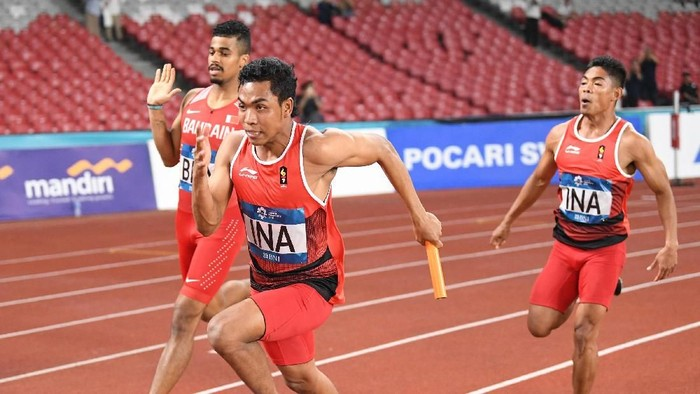 Lalu Muhammad Zohri ketika berlari. (Foto: Andika Wahyu/ANTARA FOTO/INASGOC)