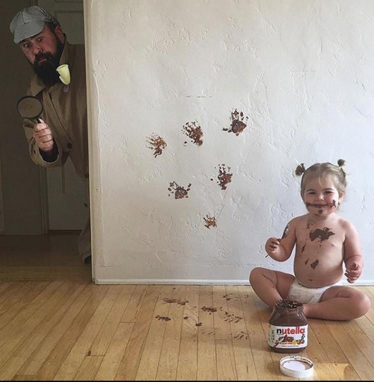 Perkenalkan ini Ayah Sholom dan Zoe. Mereka menjadi selebriti di Instagram karena foto-fotonya yang kocak dan kadang konyol. (Foto: Instagram @sbsolly)