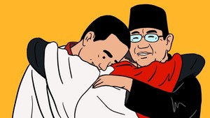 Ramai Meme Momen Keakraban Jokowi dan Prabowo
