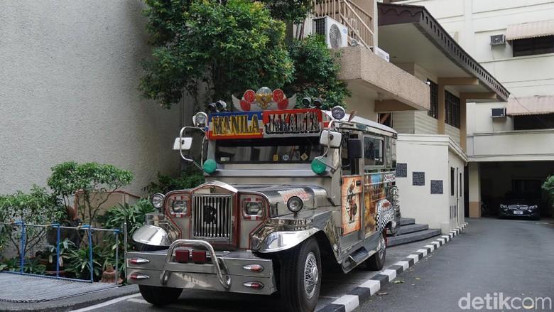Jeepney jurusan Manila-Jakarta di Manila (Syanti/detikTravel)