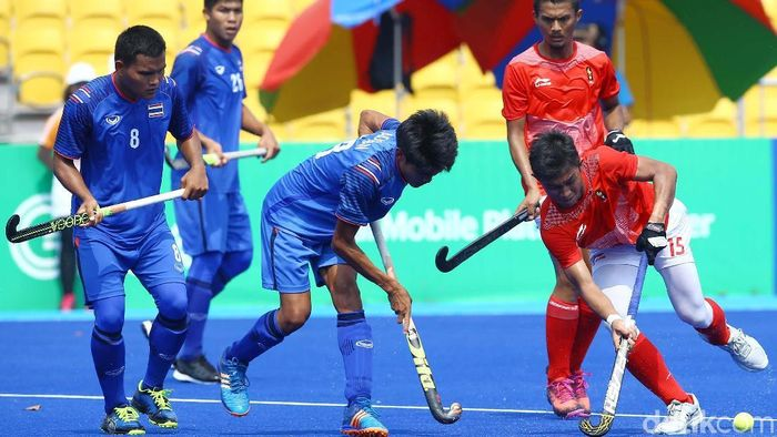 Tim Hoki putra Indonesia finis di posisi 10 pada Asian Games 2018. (Foto: Grandyos Zafna)