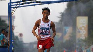 Jalan Cepat 50 Km Asian Games, Hendro Finis Kelima, Kram Hebat di Finis
