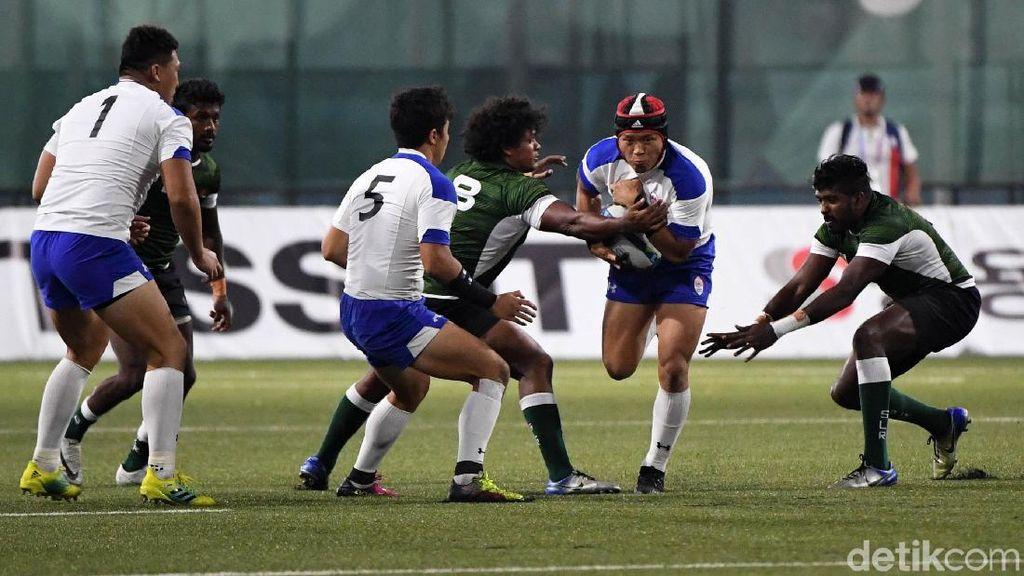Kerasnya Pertandingan Rugby Korsel vs Sri Lanka