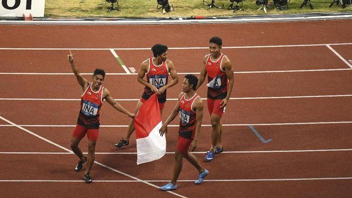 Lalu M Zohri akan berburu tiket Olimpiade 2020. (Dwi Oblo/ANTARA FOTO/INASGOC)