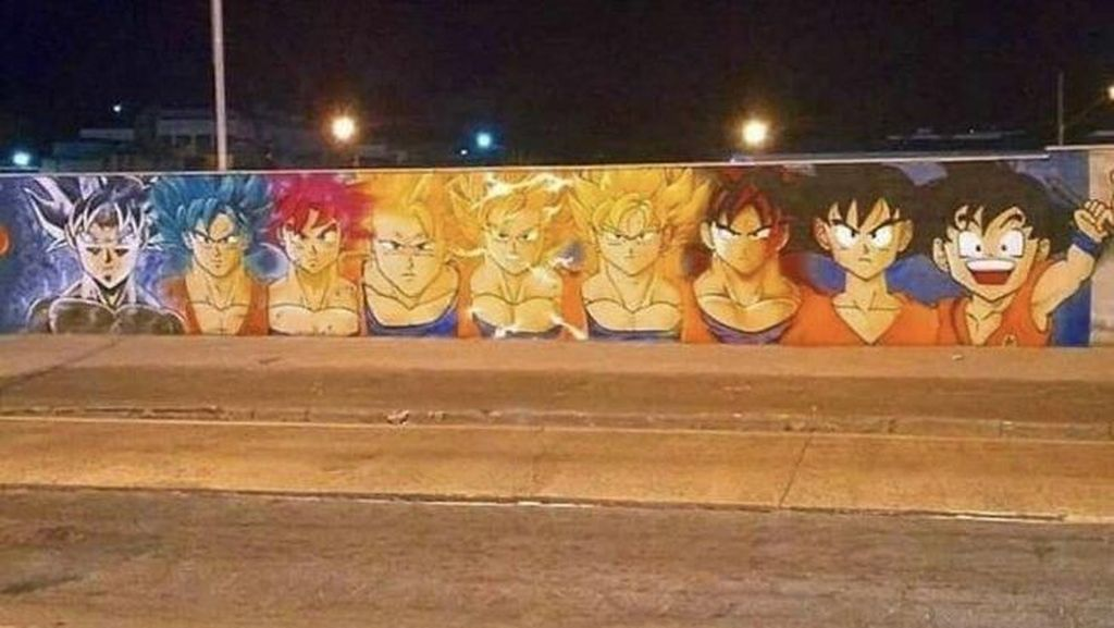 Mural Dragon Ball Menyebar hingga ke AS