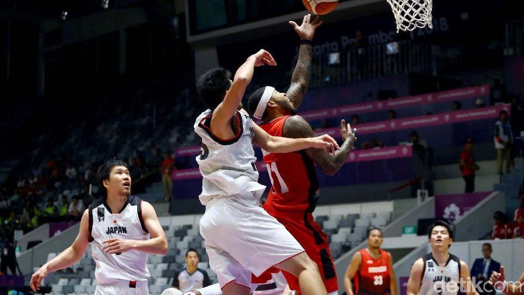 Basket Putra Indonesia Dikalahkan Jepang