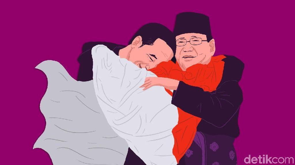 Kisah di Balik Pelukan Jokowi-Prabowo
