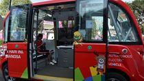 Keren! Ada Bus Listrik Tanpa Sopir Berkeliling di GBK