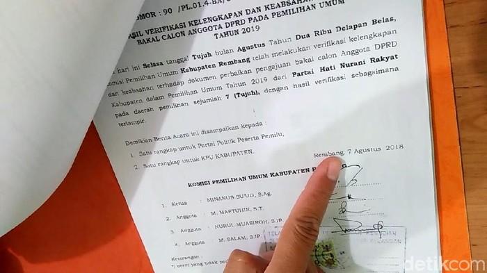 Surat permohonan sengketa yang diajukan oleh M Nur Hasan. Foto: Arif Syaefudin/detikcom